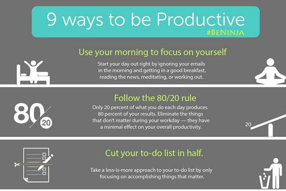 """9 Ways To Be """"More"""" Productive"""